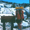 Well, we skipped Pine Creek Pass this trip, but here I am at the pass in 1982.