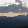 Sun setting over the Ritter Range