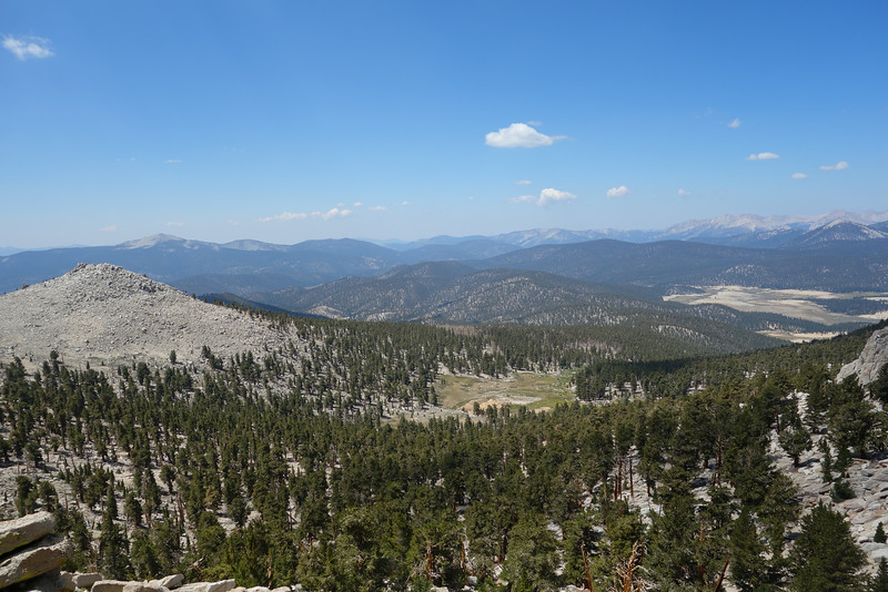 View SW; PCT above the small meadow below
