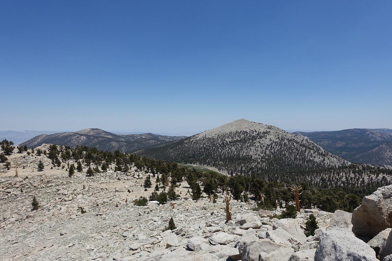 Poison Meadow below; Trail Peak R of center