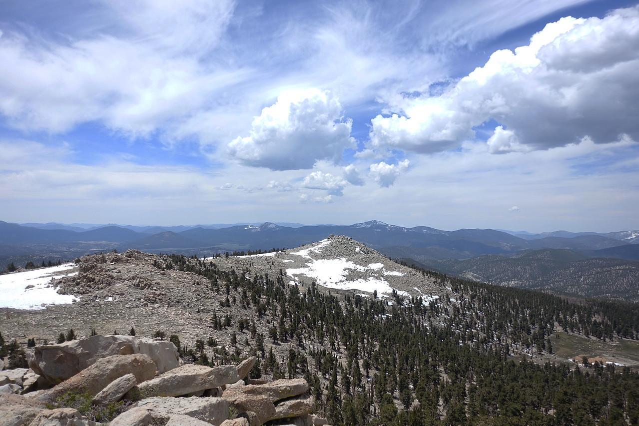 Smatko summit - view SW.  Kern Peak in far distance