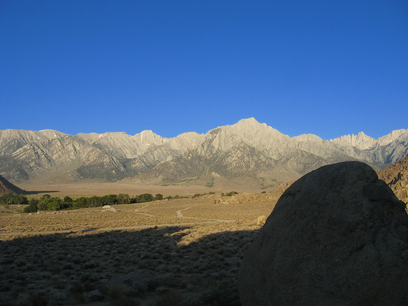 Morning view from my camp in the Alabama Hills