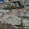 Route up the E-Ledges