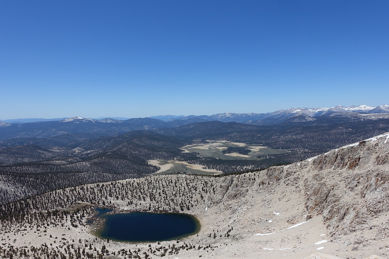 View SW.  Chicken Spring lake and Big Whitney Meadow below