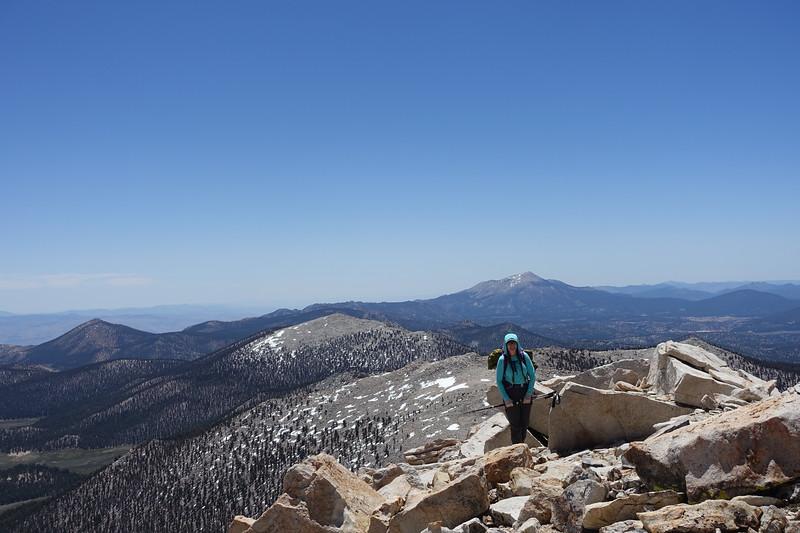 Mandy approaching the summit!