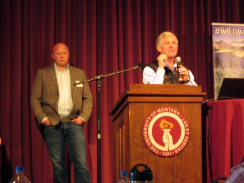 Ralph Swain at the podium