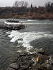 """Bayard explains this man-made """"rapid"""" on the river helps train kayakers"""