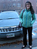 My wonderful hostess Lisa Ronald (chief workshop organizer) and her car