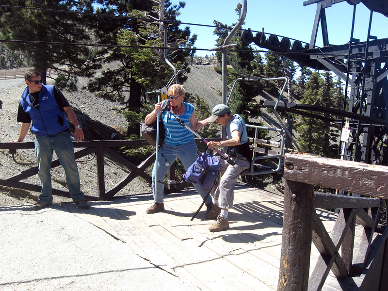 Starting up by the Mt Baldy ski lift