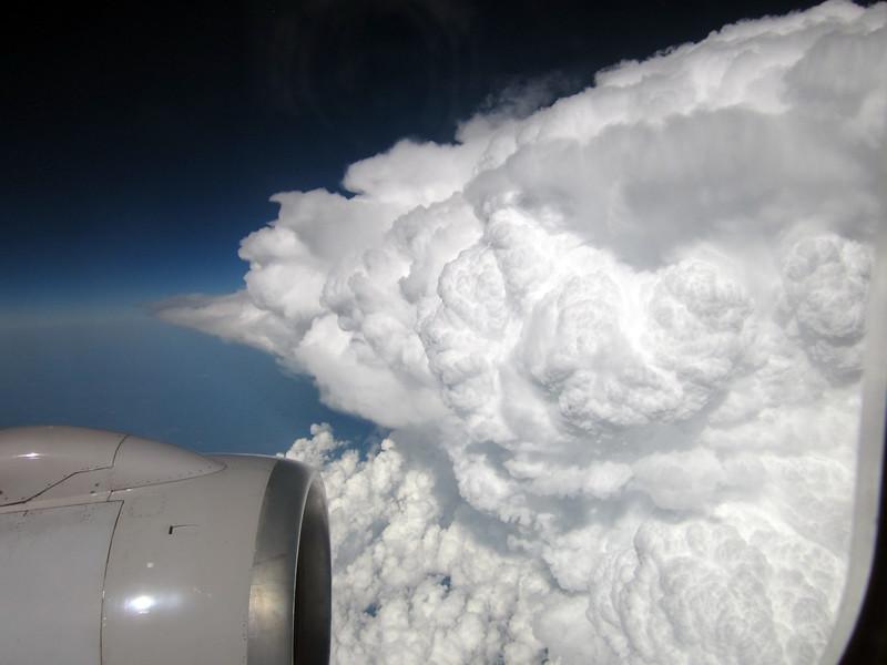 A dramatic cloud  on my flight to Newark July 17