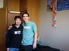 Visiting grandson Beau Hoover at UCLA: Beau with roommate Kyle