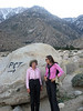 With Joan Taylor at PCT, north of Mt. San Jacinto