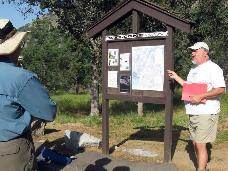 River guru Steve Evans gives pre-hike talk