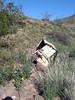 Debris left in old mining rea