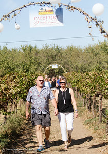 Marilyn and Scott Dickerson enter Nessere Vineyards one of the 34 stops on the Sierra Oro Farm Trail during Passport Weekend Saturday October 8, 2016 in Chico, California. (Emily Bertolino -- Enterprise-Record)