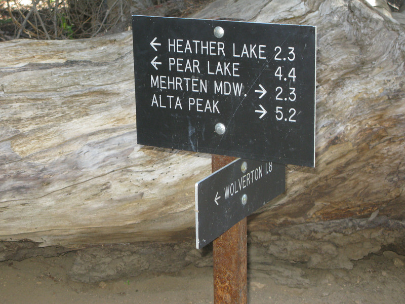 Panther Gap and Lakes Trail junction