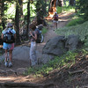 Lisa, Ruth and Alice on the trail