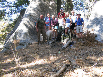Tom, Rafael, Alice, Lisa, Mike, Karen, Nathan and Rick along with Sam and Jamee at the Bear Mountain summit