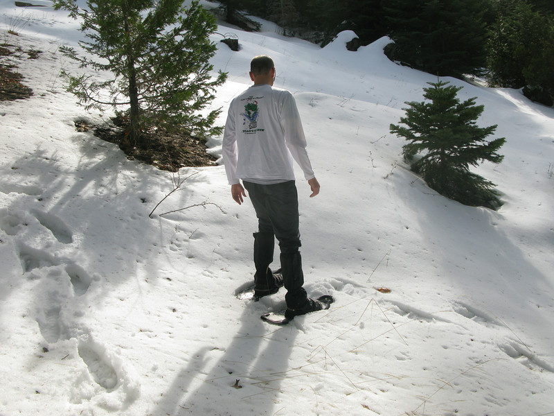 time for snow shoes - Sam