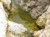 water collecting in small pools