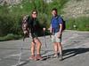 Rachel & Tomcat at Onion Valley trailhead - you gotta love them red boots