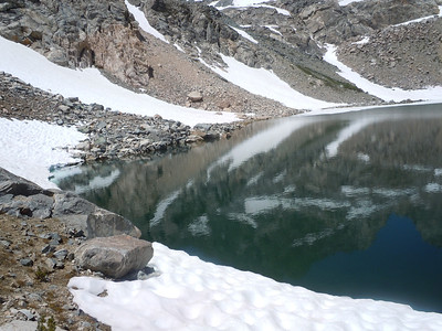 upper unnamed lake - referred to as Dead Mouse Lake - there is a story behind that