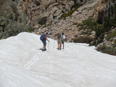 minor snow crossings to the lakes