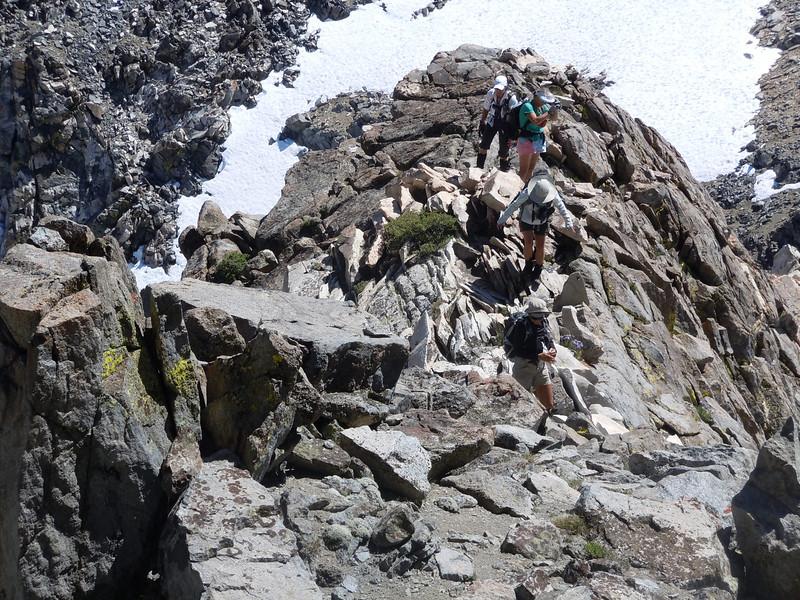 scramble along the ridge