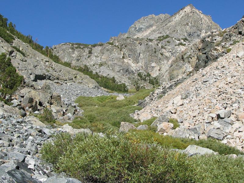 its rocky below the meadow