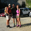 Moose Tracks, Tomcat and Kathy M. at the Onion Valley Trailhead