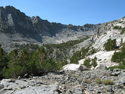 looking across to bowl that named Golden Trout Lakes are at