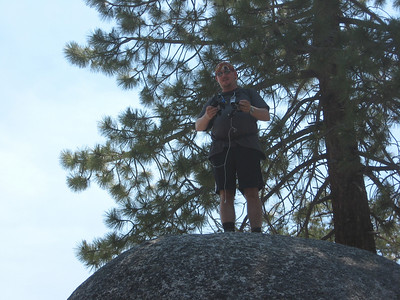 Nathan on a boulder