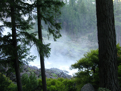 spray from Vernal Falls