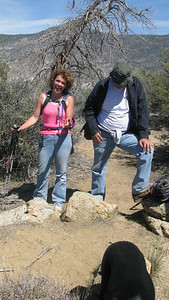Doug and Kathy - Kathy hiked up with her broken leg