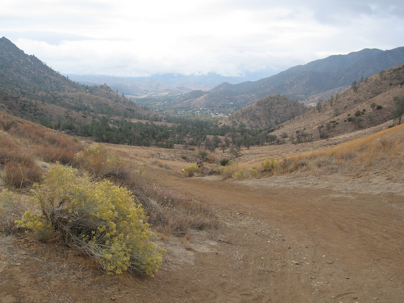 looking back down towards Kernville