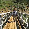 Tom on the Little Kern Horse Bridge