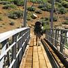 Larry crossing the  Little Kern Horse Bridge