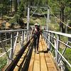 Alice crossing the Little Kern Horse Bridge