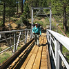 Steve crossing the Little Kern Horse Bridge