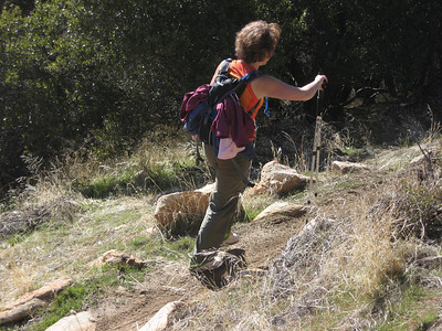 Kathy on the trail