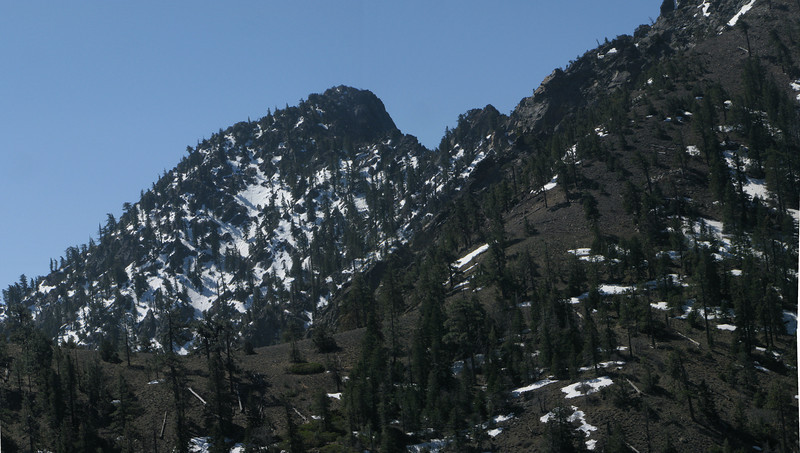 view of Spanish Needle and the saddle