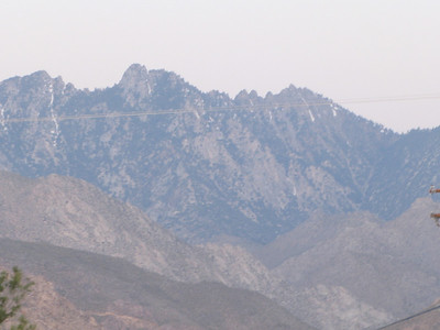 closer view of the peak