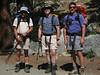 Bill S., Bob H. & Tomcat at the trailhead