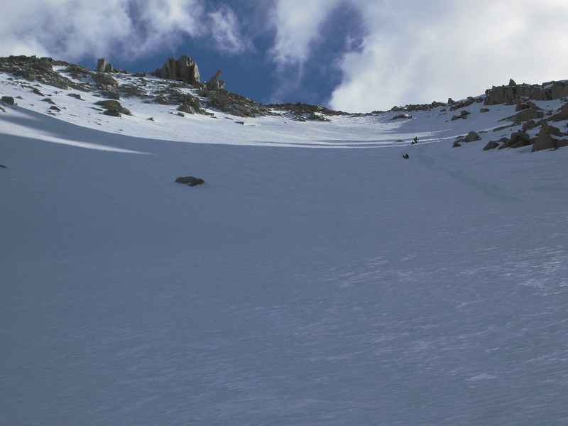 glissading down from Trail Crest through the bowl - when done properly it can save time & be fun - but this can place can also kill