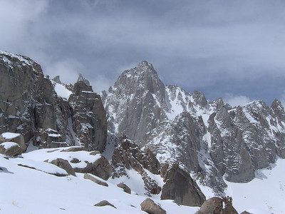 view of Whitney summit from Thor's northern ridgeline