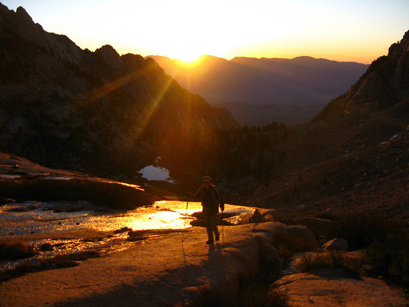 sunrise on the slabs to Clyde Meadow