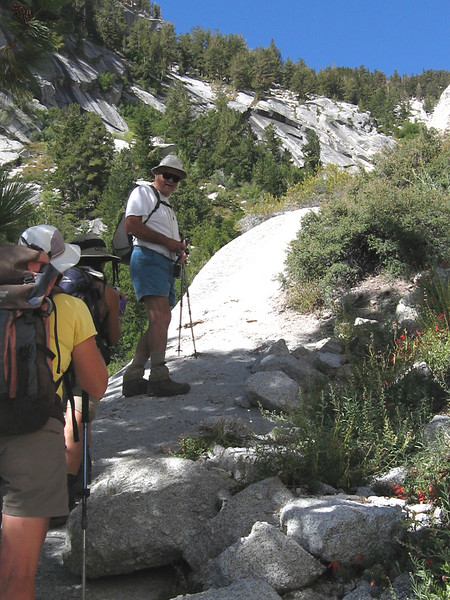 going up the North Fork - this alternate route is a favorite among friends