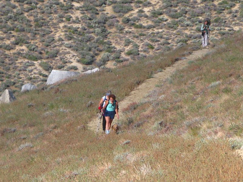 starting up the PCT from Walkers