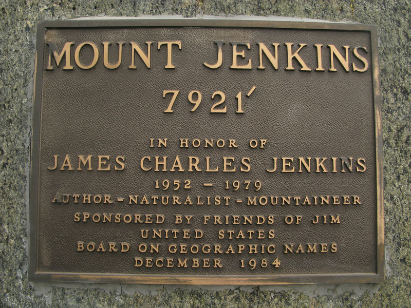 Jenkins plaque on the PCT