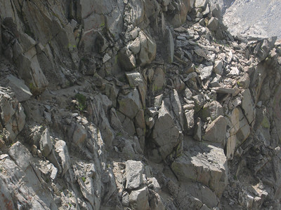 the ledge on the right is where we took break - then we traversed rather than drop down - nice ledge system